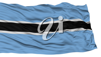 Isolated Botswana Flag, Waving on White Background, High Resolution