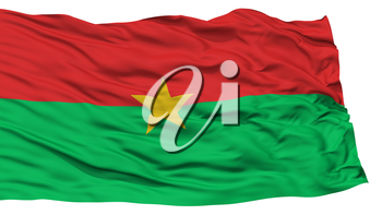 Isolated Burkina Flag, Waving on White Background, High Resolution