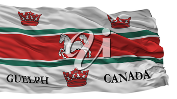 Guelph City Flag, Country Canada, Isolated On White Background, 3D Rendering