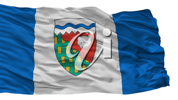 Northwest Territories City Flag, Country Canada, Isolated On White Background, 3D Rendering