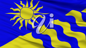 Penticton City Flag, Country Canada, British Columbia Province, Closeup View, 3D Rendering