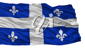 Quebec City Flag, Country Canada, Isolated On White Background, 3D Rendering