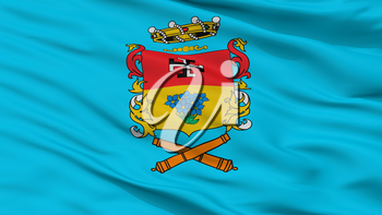 Linares City Flag, Country Chile, Closeup View, 3D Rendering