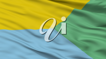 Ayapel City Flag, Country Colombia, Cordoba Department, Closeup View, 3D Rendering