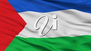 Chigorodo City Flag, Country Colombia, Antioquia Department, Closeup View, 3D Rendering