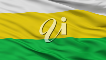 Sutatenza City Flag, Country Colombia, Boyaca Department, Closeup View, 3D Rendering