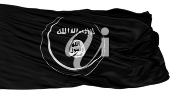 Eastern Indonesian Mujahideen Mujahidin Flag, Isolated On White Background, 3D Rendering