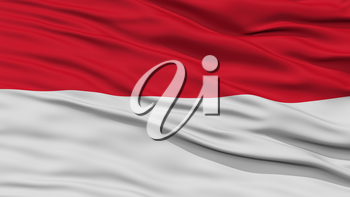 Closeup Indonesia Flag, Waving in the Wind, High Resolution