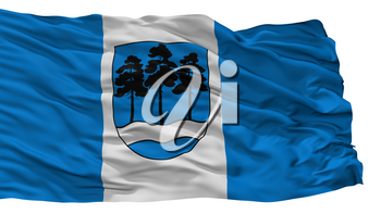 Ogre City Flag, Country Latvia, Isolated On White Background, 3D Rendering