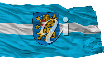 Rezekne City Flag, Country Latvia, Isolated On White Background, 3D Rendering