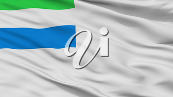 Sierra Leone Naval Ensign Flag, Closeup View, 3D Rendering