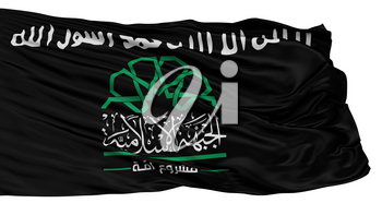 Islamic Front Syria Black Flag, Isolated On White Background, 3D Rendering