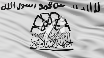 Islamic Front Syria Flag, Closeup View, 3D Rendering