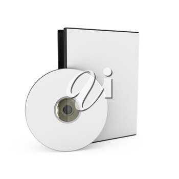 Royalty Free Clipart Image of a CD and Case