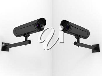 Royalty Free Clipart Image of Video Cameras
