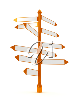 Royalty Free Clipart Image of Direction Signs