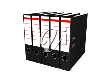 Royalty Free Clipart Image of Folders