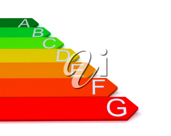 Royalty Free Clipart Image of an Energy Efficiency Scale