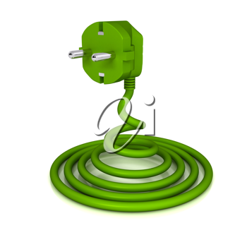 Royalty Free Clipart Image of an Electric Plug