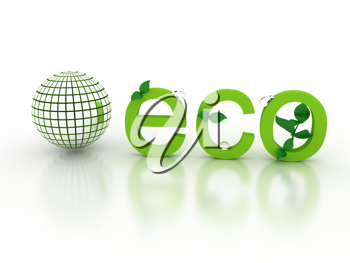 Royalty Free Clipart Image of an Ecological Concept
