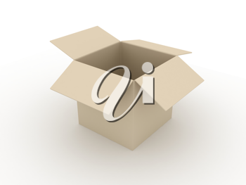 Royalty Free Clipart Image of a Box