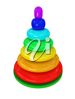 Royalty Free Clipart Image of a Toy Pyramid