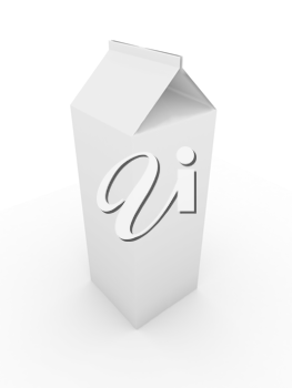 Royalty Free Clipart Image of a Blank Carton