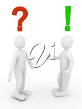 Royalty Free Clipart Image of a Decision Concept
