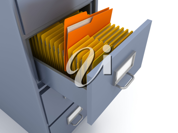 Royalty Free Clipart Image of a Filing Cabinet
