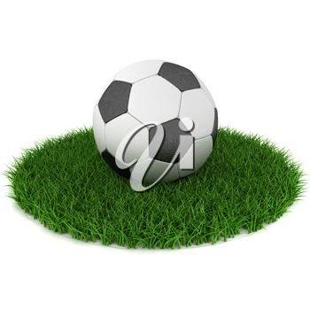 Royalty Free Clipart Image of a Soccer Ball