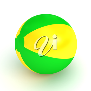 Royalty Free Clipart Image of an Inflatable Ball
