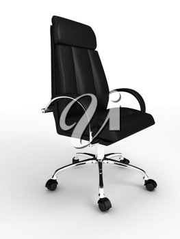 Royalty Free Clipart Image of a Black Chair