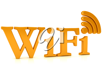 Royalty Free Clipart Image of a Wireless Network Sign