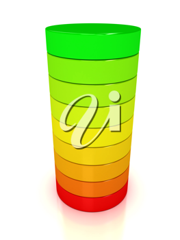 Royalty Free Clipart Image of an Energy Chart