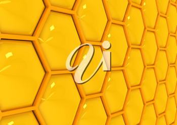 Royalty Free Clipart Image of a Honeycomb Background