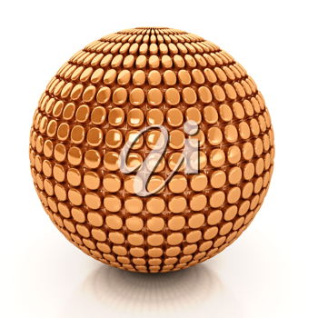 Royalty Free Clipart Image of a Sphere