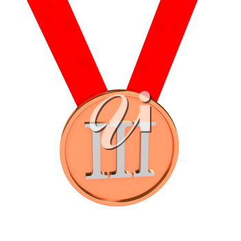 Royalty Free Clipart Image of a Bronze Medal