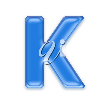 Royalty Free Clipart Image of a Letter 'K'