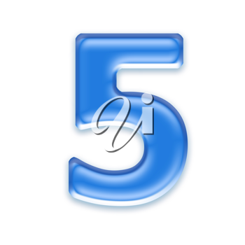 Royalty Free Clipart Image of a Number Five