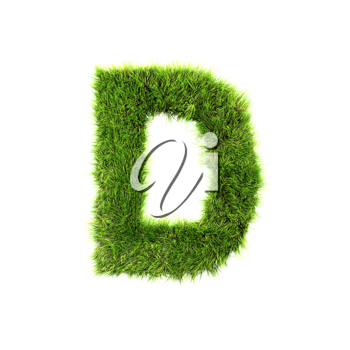 Royalty Free Clipart Image of a Letter 'D'