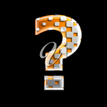Royalty Free Clipart Image of a Question Mark
