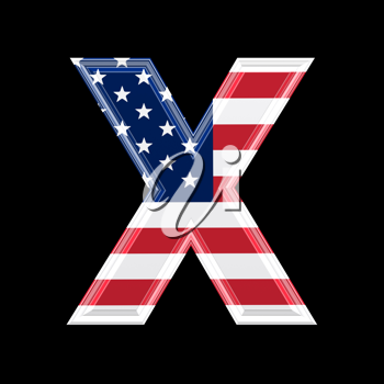 Royalty Free Clipart Image of an American Flag 'X'