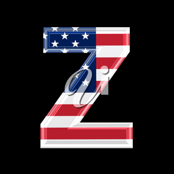 Royalty Free Clipart Image of an American Flag 'Z'