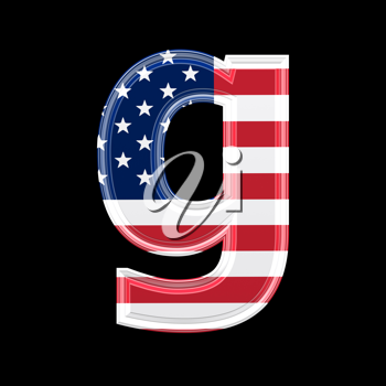 Royalty Free Clipart Image of an American Flag 'g'