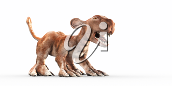 Royalty Free Clipart Image of a Prehistoric Monster