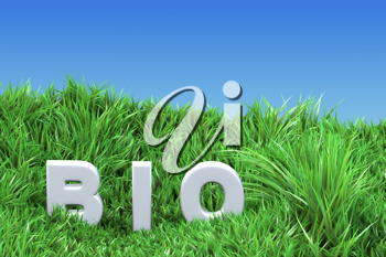 Royalty Free Clipart Image of a Bio in Grass