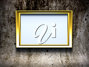 Royalty Free Clipart Image of a Gold Frame