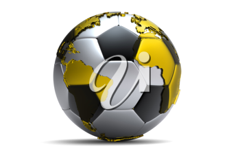 Royalty Free Clipart Image of a Soccer Earth
