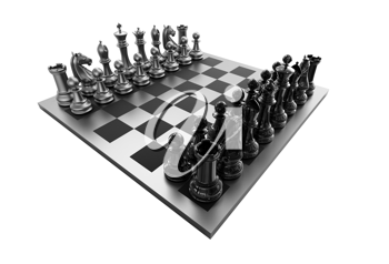 Royalty Free Clipart Image of a 3d Chessboard