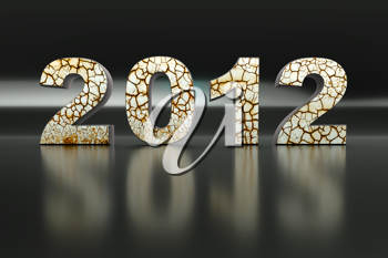 Royalty Free Clipart Image of 2012
